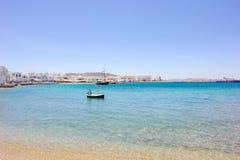 Strand av Mykonos Royaltyfri Foto