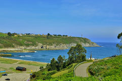 Strand av navia asturias Spanien Arkivfoton