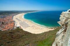 Strand av Nazare Arkivfoton