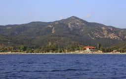 Strand av Neos Marmaras Arkivfoto
