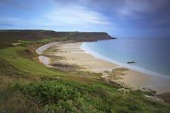 Strand av Nez de Jobourg Royaltyfria Foton