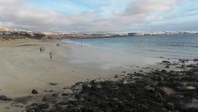 Strand av Playa Blanca i Fuerteventura, Canarias royaltyfria foton