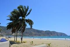 Strand av Puerto Lopez, Ecuador royaltyfria bilder
