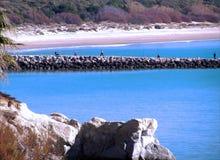 Strand av rotaen i Cadiz Arkivbild