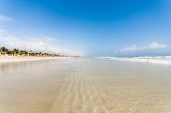 Strand av Salalah, Dhofar, sultanat av Oman Fotografering för Bildbyråer