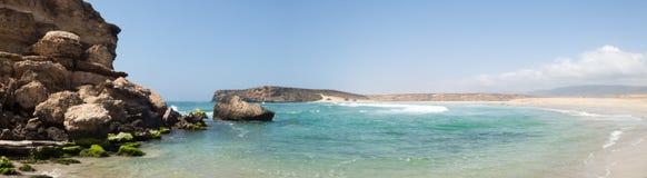 Strand av Salalah, Dhofar, sultanat av Oman Royaltyfri Fotografi