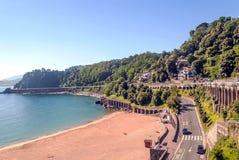 Strand av San Sebastian Arkivbilder