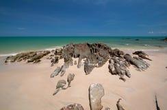 Strand av sydliga Thailand Royaltyfri Foto