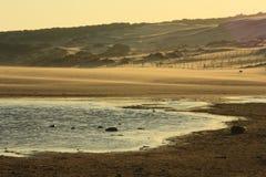 Strand av Tarifa, CÃ-¡ diz Arkivfoto
