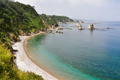 Strand av tystnad, Asturias (Spanien) Royaltyfria Bilder