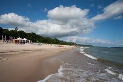 Strand in awowo WÅ 'adysÅ ' Stock Afbeeldingen
