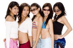 Strand Babes #1 royalty-vrije stock afbeelding