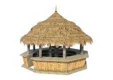 Strand-Bar der Wiedergabe-3D auf Weiß Lizenzfreies Stockbild