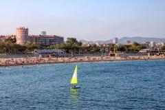 Strand in Barcelona, Spanien Lizenzfreies Stockfoto