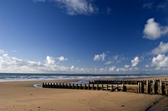 Strand in Barmouth. Wales Stock Foto's