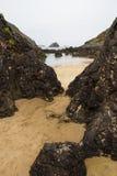 Strand Barro Asturias Spanje Stock Afbeelding