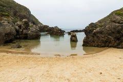 Strand Barro Asturias Spanje royalty-vrije stock fotografie