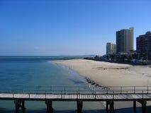 Strand Beach. Part of the coast line along False Bay, Cape Town. South Africa Stock Photo