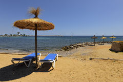Strand beach resort of Palma Nova, Majorca. Royalty Free Stock Images