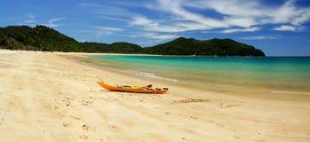 Strand bei Abel Tasman National Park in Neuseeland Lizenzfreies Stockfoto