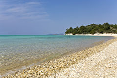 Strand bei Chalkidiki, Griechenland Stockfotografie