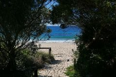 Strand bei Mollymook Stockfoto