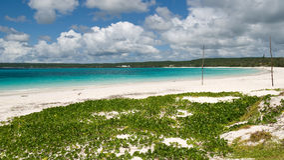 Strand bei Neu-Kaledonien Stockfoto