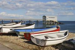 Strand bei Selsey. Westsussex. Großbritannien Stockbilder