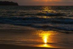 Strand bei Sonnenuntergang Stockfotografie
