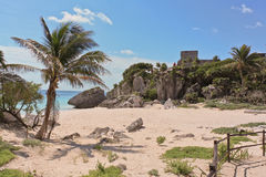 Strand bei Tulum Mexiko 3 Lizenzfreies Stockbild