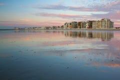 Strand in België, Knokke stock fotografie