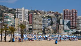 Strand in Benidorm Stock Foto