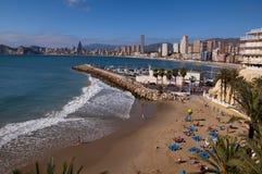 Strand in Benidorm Spanien Lizenzfreie Stockfotos