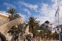 Strand in Benidorm Spanien Stockfotografie