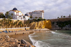 Strand in Benidorm Spanien Stockfotos