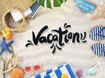 Strand-Berufung genießen Feiertags-Sommer-Konzept vektor abbildung