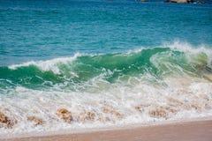 Strand bewegt auf Acapulco-Strand wellenartig Lizenzfreie Stockfotografie