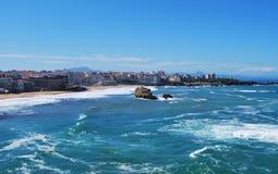 strand biarritz fotografering för bildbyråer