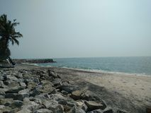Strand bij Arabische Overzees Royalty-vrije Stock Foto