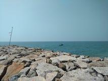 Strand bij Arabische Overzees Stock Afbeelding
