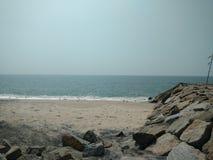 Strand bij Arabische Overzees Royalty-vrije Stock Afbeeldingen