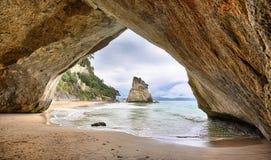 Strand bij de Inham van de Kathedraal, Nieuw Zeeland Royalty-vrije Stock Fotografie