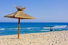 Strand bij de zomer royalty-vrije stock foto's