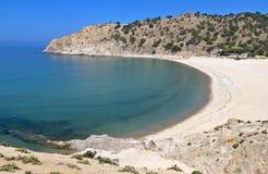 Strand bij eiland Samothraki in Griekenland Royalty-vrije Stock Afbeeldingen