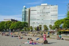 Strand bij Engelse Baai in Vancouver, Brits Colombia Royalty-vrije Stock Fotografie