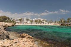 Strand bij het overzees Stock Foto's