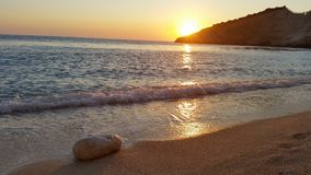 Strand bij Ionische overzees stock fotografie