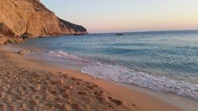 Strand bij Ionische overzees Stock Afbeeldingen