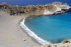 Strand bij Kreta eiland, Griekenland royalty-vrije stock afbeelding