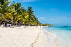 Strand bij Le Morne Brabant, Mauritius Royalty-vrije Stock Fotografie